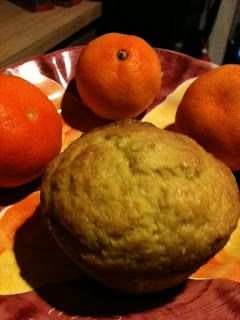 Orange muffins. Made with oranges, naturally.