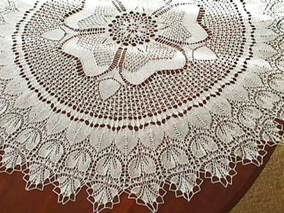 Knitted Tablecloth Patterns : Rose of England Design by Marianne Kinzel. Knitting Pattern Stash Pintere...