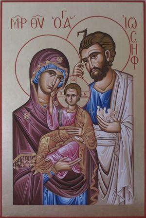 Religious icon of Santa Famiglia: