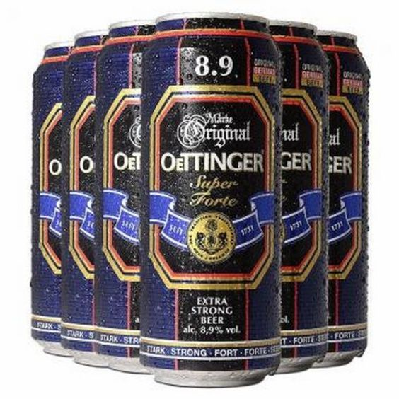 Bia Oettinger Nặng 8,9% - Lon 500m - Bia Nhập Khẩu