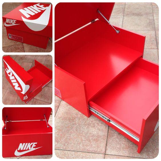 Nike nike schuhe and k chenschr nke on pinterest for Schuhschrank jordan design