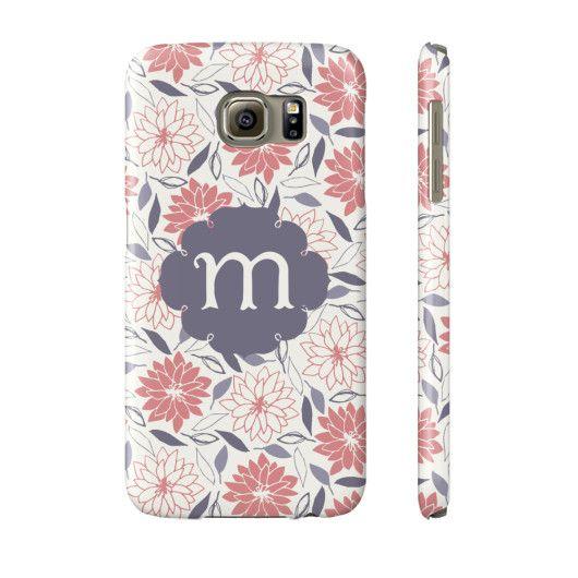 Happy Floral Pattern Phone Case - Letter M