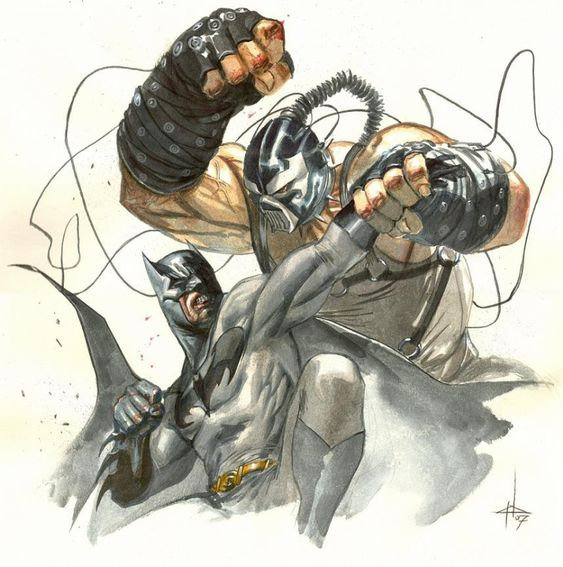 Bane VS Batman by Gabriele Dell'otto