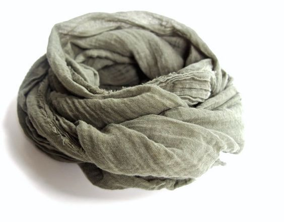 Olive Scarf Sage Scarf Mens Green Scarf Olive by TheChicArtisan
