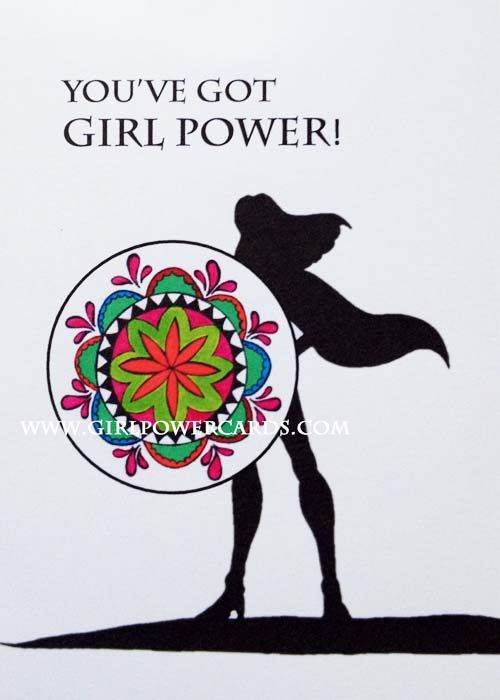 006 Girl Power Empowerment Inspirational Greeting Card for