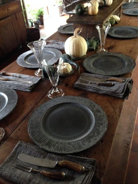 Faux Pewter Chargers Perennial Style Dining Room Table Decor