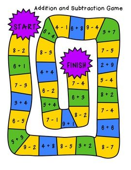 graphic regarding Addition and Subtraction Games Printable titled Zoe Bignell (bignell3314) upon Pinterest
