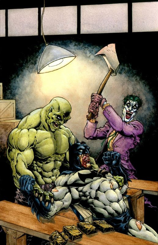 Batman, Joker and Killer Croc by Brad Green