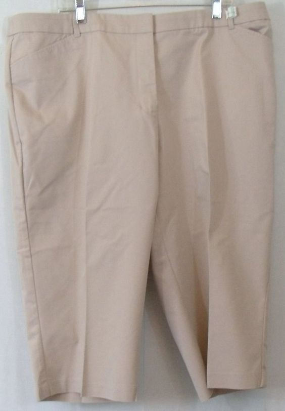 Khaki Capri Plus Size Pants, Size 20W by Croft & Barrow ...