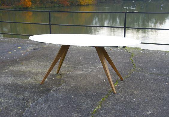 Ovale Eettafel  190 x 92 cm www design tafel be   Ovale Eettafel   Pinterest