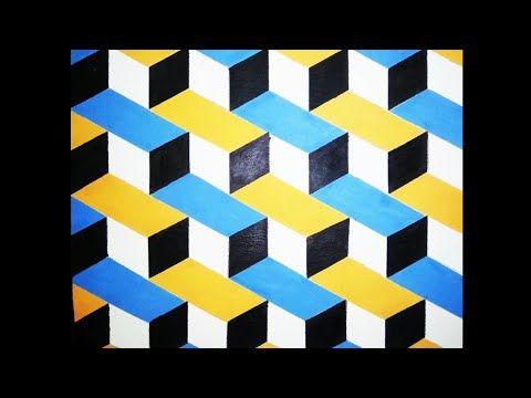 Cat Tembok Kreatif 3d 3d Wall Painting Design Tutorial Cat Kamar 3d Youtube In 2021 3d Wall Painting Wall Paint Designs Diy Wall Design