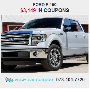 Check out the #CouponSavings on this #FordF150. We have more deals on www.WowCarCoupon.com   #WowCarCoupon #Coupons #Savings
