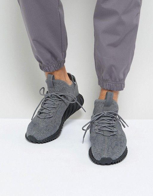 Adidas Originals Tubular Doom Sock Primeknit Sneakers In Gray