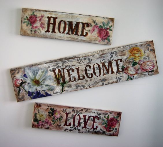 Decoupage -Stencil-Decapado de tablilla