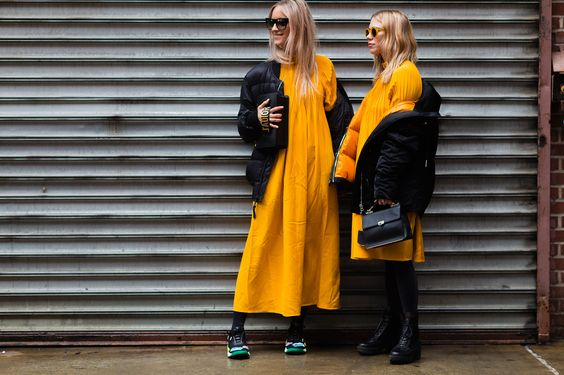 Charlotte Groeneveld and Courtney Trop NYFW Street Style... COORDINATING is the new COMPETING... The future is friendly  {sheisme}