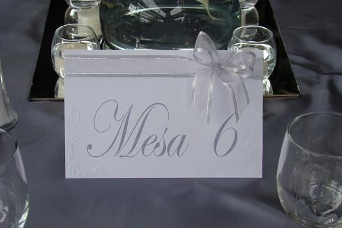 Boda Distintivos para mesa www.tiendapekiss.com