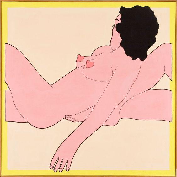 John-Wesley,-Sleep,-1971,-acrylic-on-canvas,-111.7