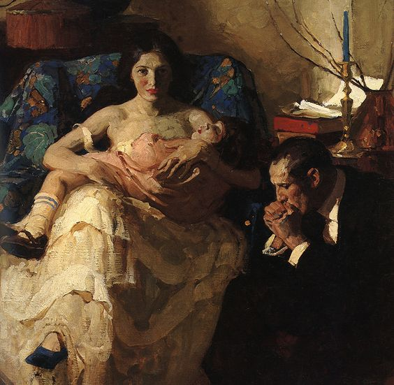 "dean cornwell: illustration for ""the glass cage"" by deflam, via Flickr"