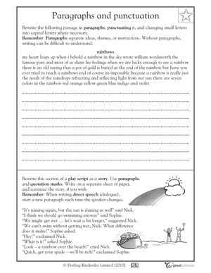 Printables Third Grade Editing Worksheets a well fifth grade writing and paragraph on pinterest 5 great worksheets punctuating editing greatschools
