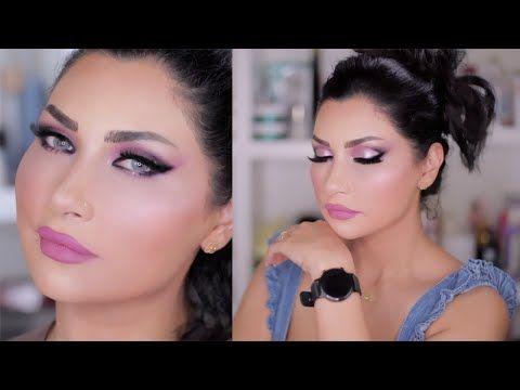 الدرس الـ ١٨ اللوك الـ ٥ مكياج وردي فخم و جرئ دورة ميثاءعبدالجليل Youtube Makeup Art Makeup Artist Make Up