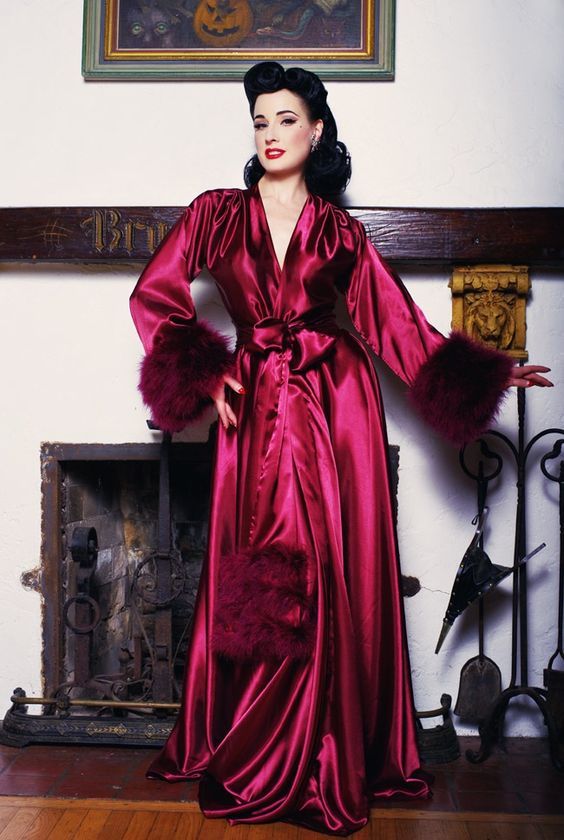 Boudoir by D'Lish ~ Dita Von Teese Collection ~ Holiday Dressing Gown