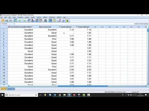 How To Combine Variables In Spss Statistics Youtube Spss Statistics Variables Statistics
