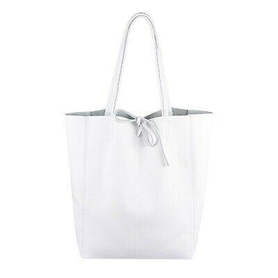 ITAL DAMEN LEDER TASCHE Shopper Schultertasche Tote Bag