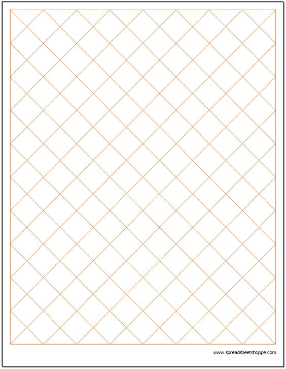 Diamond Graph Paper Template Charts \ Graphs Pinterest Graph - isometric graph paper