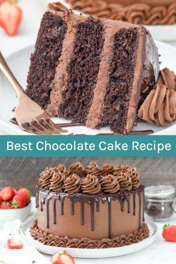 ¡Esta receta de pastel de chocolate es verdaderamente la MEJOR! ¡Tienes que intentarlo! Es un ...  #chocolate #intentarlo #mejor #pastel #receta #tienes #verdaderamente