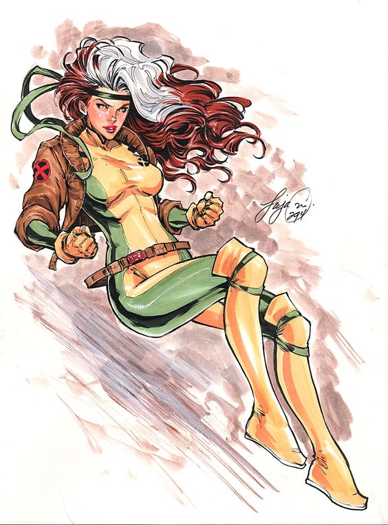 My Rogue. I don't like the pictures of her with Gambit because she's mine.