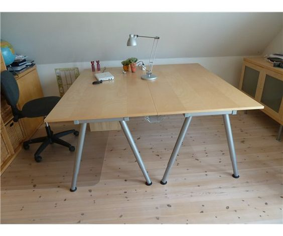 two ikea galant desks back to back office pinterest