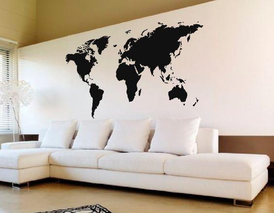 Vinilos decorativos planisferio buscar con google for Vinilo gigante pared