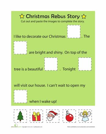 Worksheets: Christmas Rebus Story