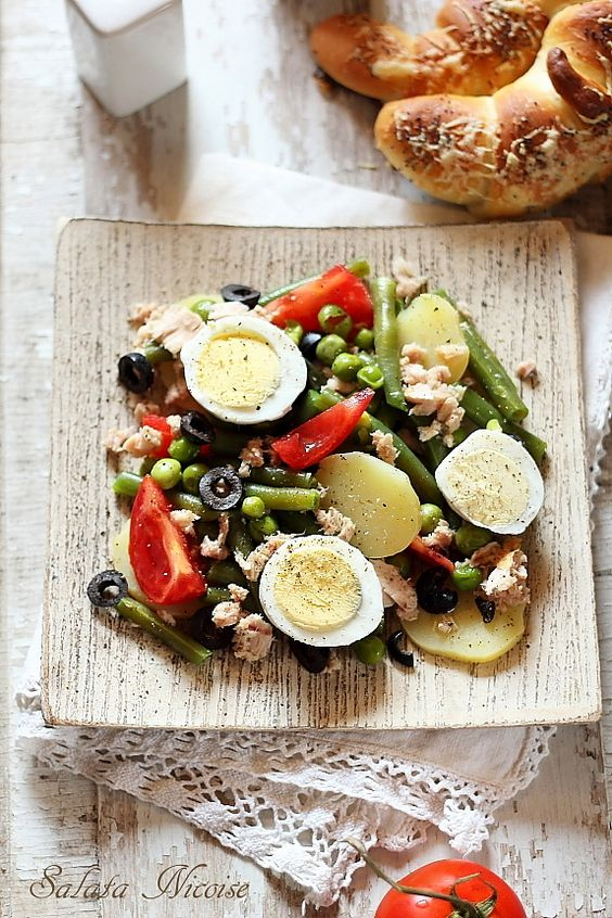 Salata nicoise: Side Dishes, Low Carb Dishes, Salata Nicoise1, Nicoise Salad, Nicoise Salata