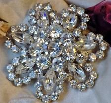 Gorgeous Vintage Juliana Large Clear Chaton & Marquise Rhinestone Brooch