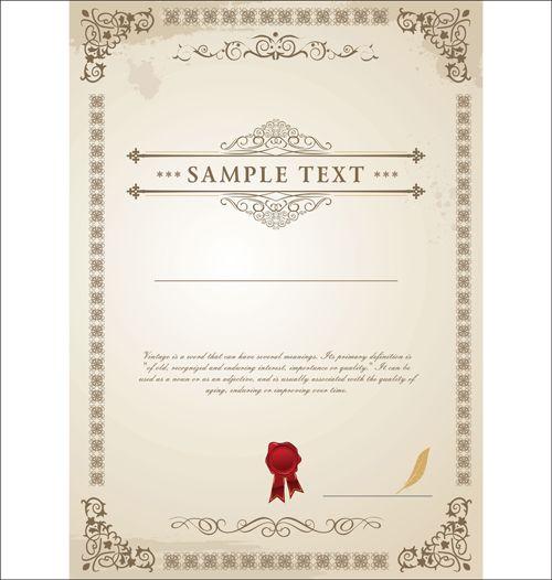 Vector Templates of certificates design set 01 GUI – Creative Certificate Designs
