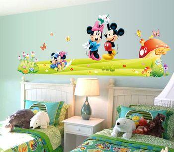 Mickey & Minnie Mouse Wall Sticker Boys Girls Kids Room Decor Mural Art Decals