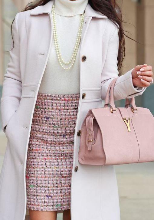 15 Looks Pastel Para La Oficina En Invierno Divina Ejecutiva Moda Ropa De Trabajo Ropa Ropa Casual Elegante