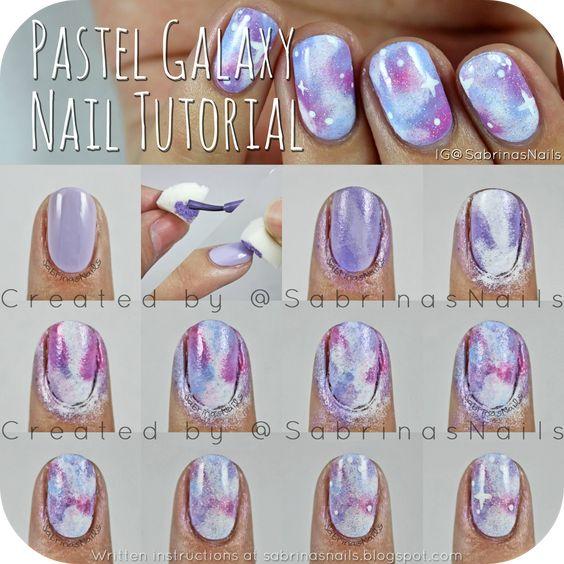 Sabrinas Nails: Pastel Galaxy Nail Tutorial