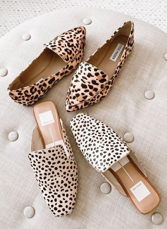 animal print flat boots