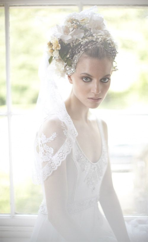 Super romantic, vintage-inspired veil and wedding dress from Temperley London bridal collection