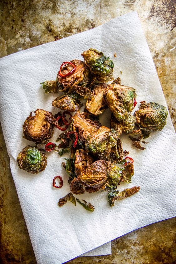 Crispy Fried Brussels Sprouts by Heather