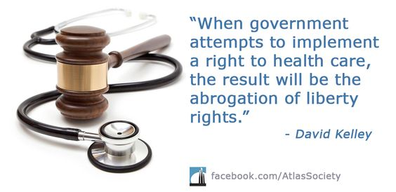 Find out why when government implements a right to health care the result will be the abrogation of liberty rights.