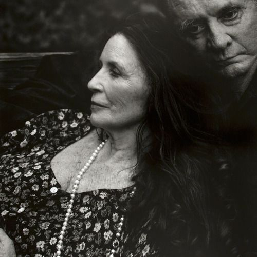 June Carter Cash and Johnny Cash in Hiltons, Virginia in 2001 photographed by Annie Leibovitz