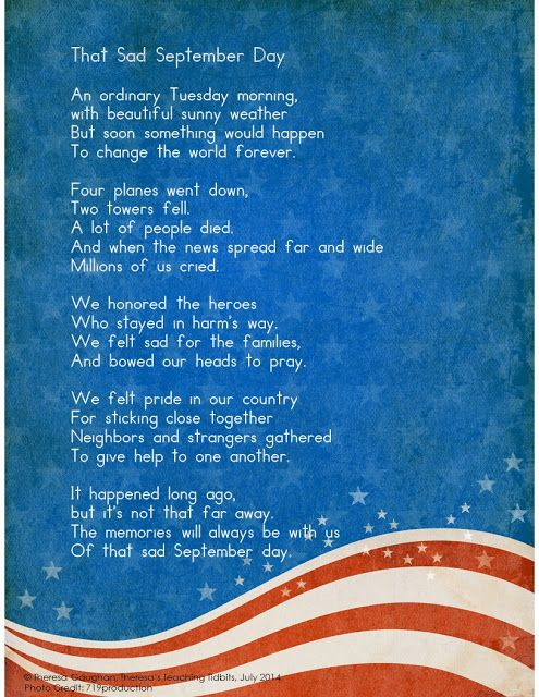 Theresa's Teaching Tidbits: September 2015 - A Resource for discussing September 11th with kids.