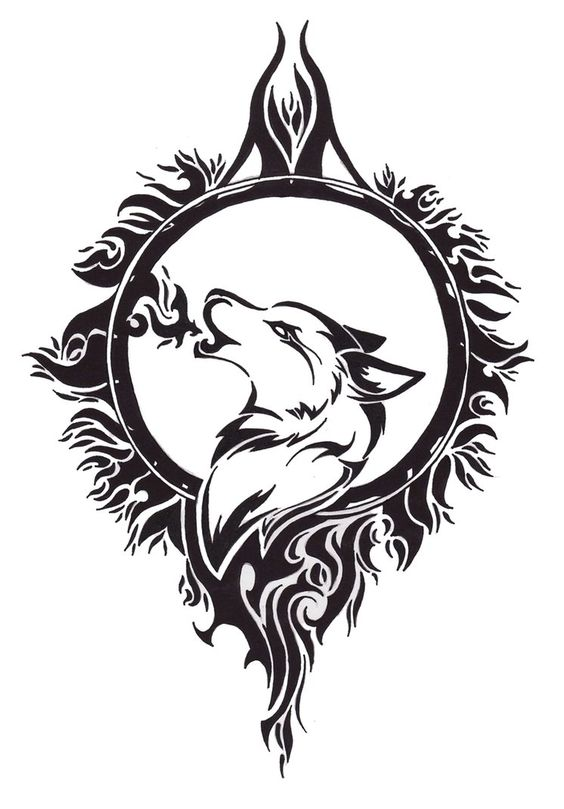 Celtic wolf design free download wolf tattoo design by angel of mist
