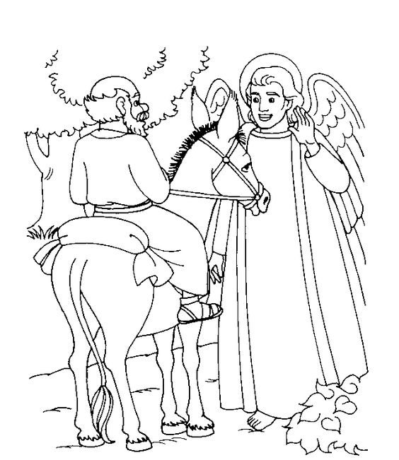 Balaam and the Talking Donkey | The Donkey that Talked - Coloring ...