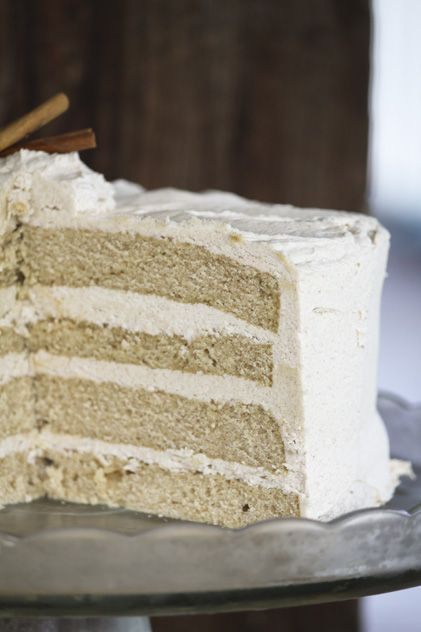 Snickerdoodle cake with brown sugar cinnamon buttercream...
