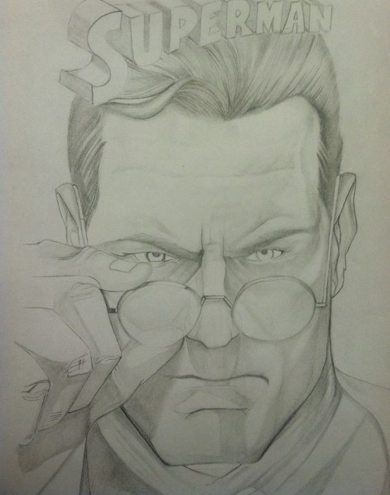 My drawing of Clark Kent