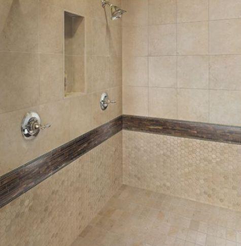 30 bathroom tile ideas for a fresh new look downstairs for Bathroom ideas with beige tiles